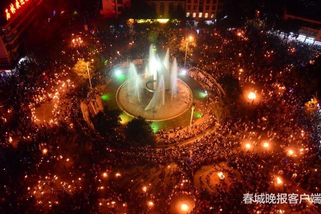 石林彝族火把节下月4至6日举行 (3)